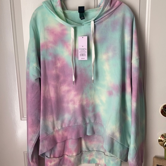 Wild Fable High/Low Tie Dye Hoodie ~ Size XL